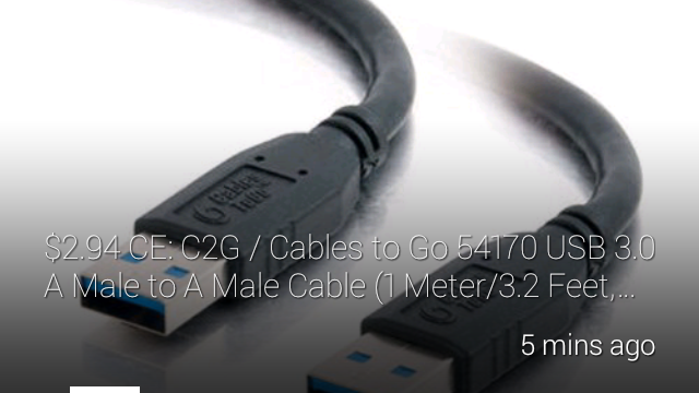 A cable with price and description and a slider beneath