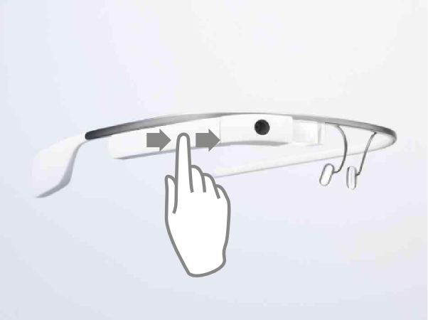 Swipe Google Glass touchpad forward